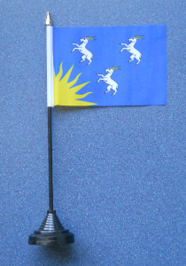 Merionethshire Desk / Table Flag with plastic stand and base